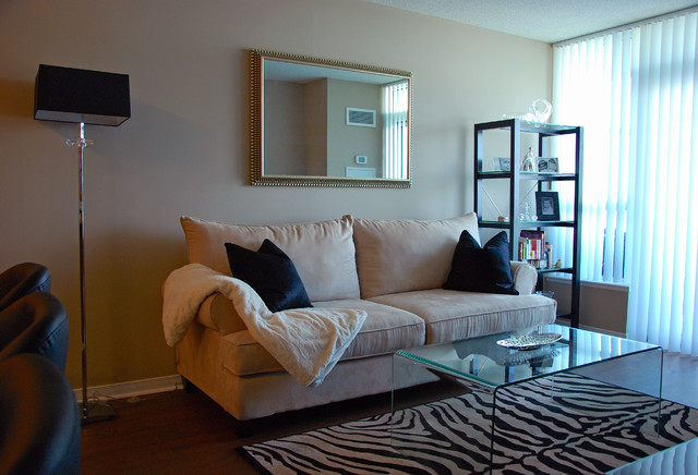 Small Condo Decor Contemporary Living Room Toronto