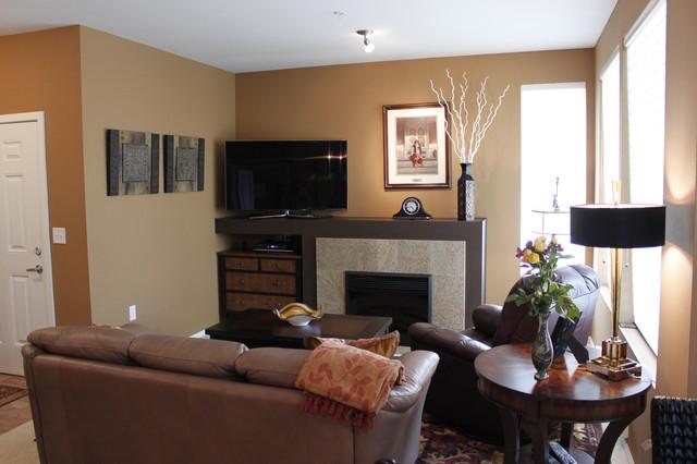 Small Condo makeover - Contemporary - Living Room - Seattle ...