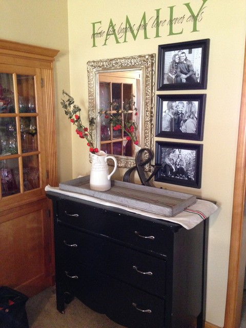 Small Foyer Solutions : Small entryway solutions transitional living room