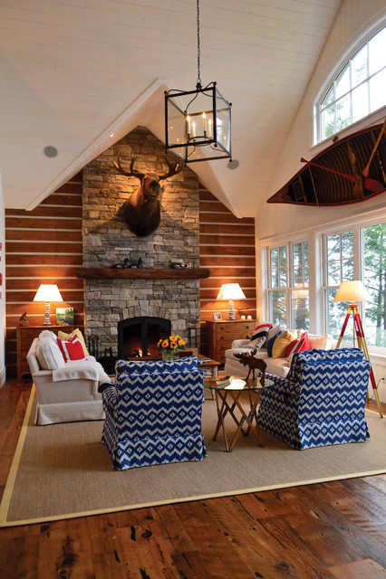 Small Funky Cottage Rustic Living Room Toronto By