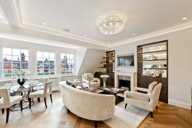 Small Open Plan Kitchen In An Apartment Knightsbridge London Contemporary Living Room London By Elan Kitchens Houzz Ie