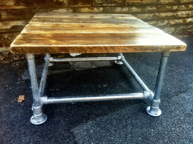 Small scaffold coffee table for Small industrial coffee table