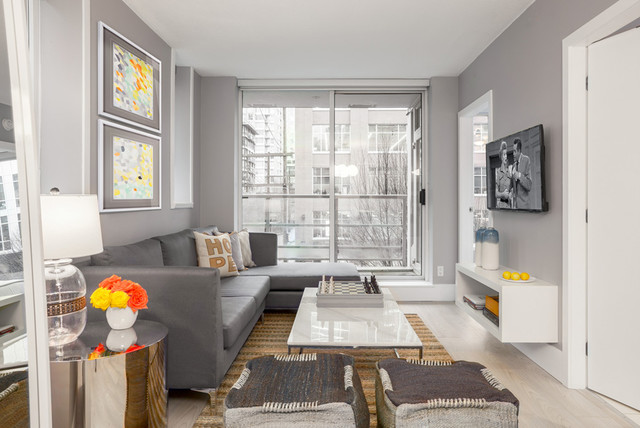 Small Space - Big Style - Contemporary - Living Room - Vancouver ...