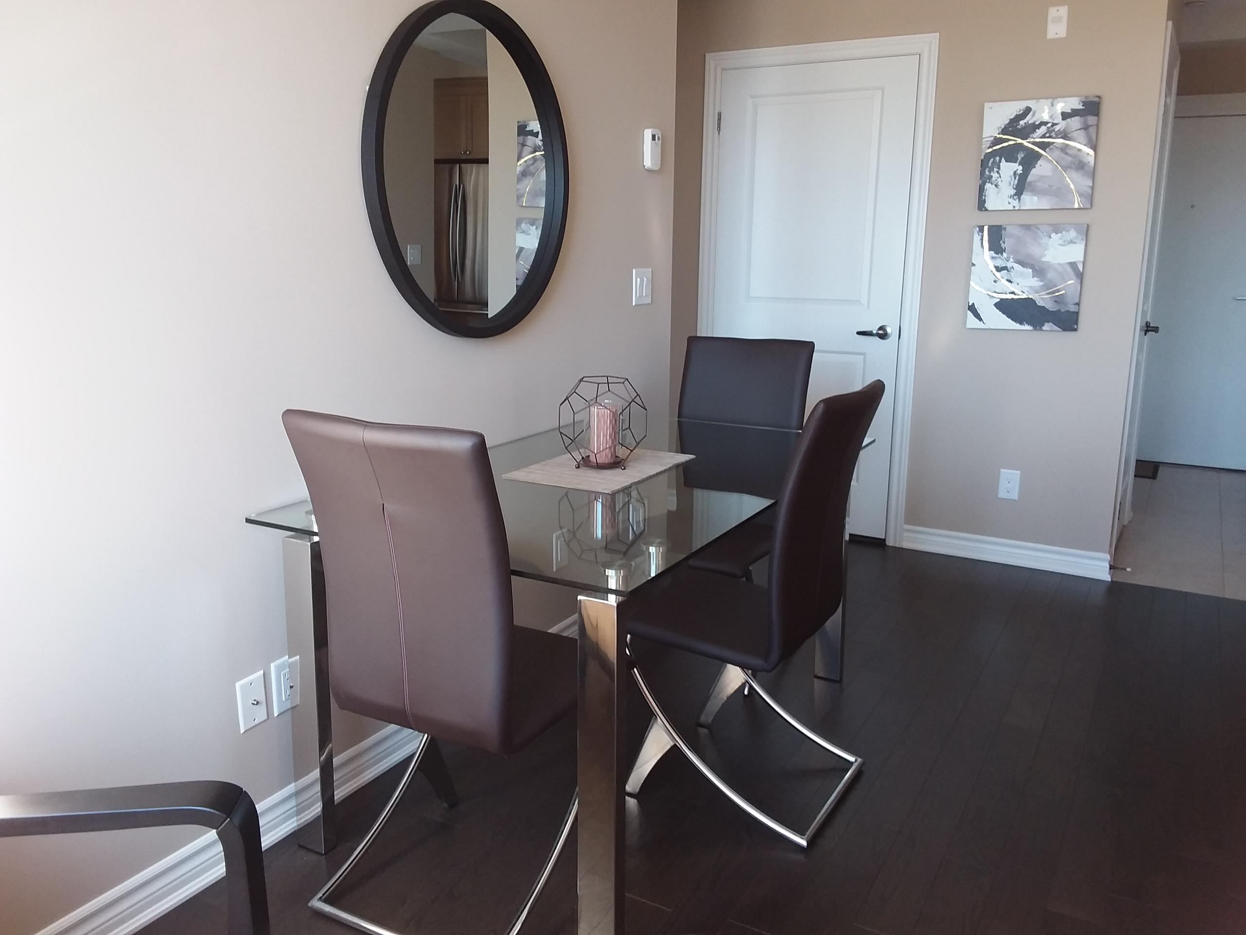 Small space design: before and after condo design oakville
