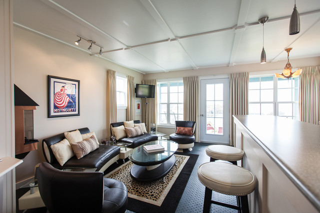 Small space living in outport community port rexton for Houzz small living rooms