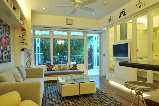 Small Space Living in Serendra modern-living-room