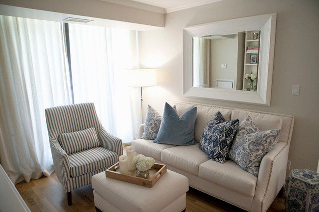 Small Spaces Contemporary Living Room Toronto By
