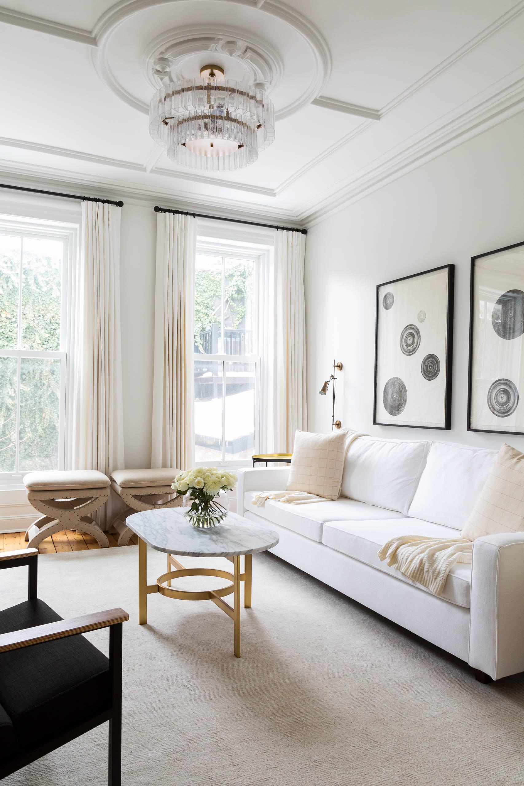White Curtains White Walls Living Room Ideas Photos Houzz