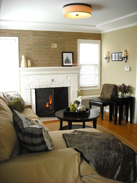 Small updated living room for Houzz small living rooms