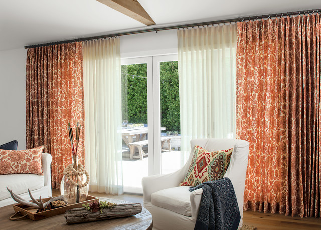 Smith noble curtains drapery eclectic living room for Smith and noble shades