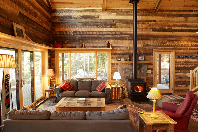 Smith Cabin Traditional Living Room Minneapolis By