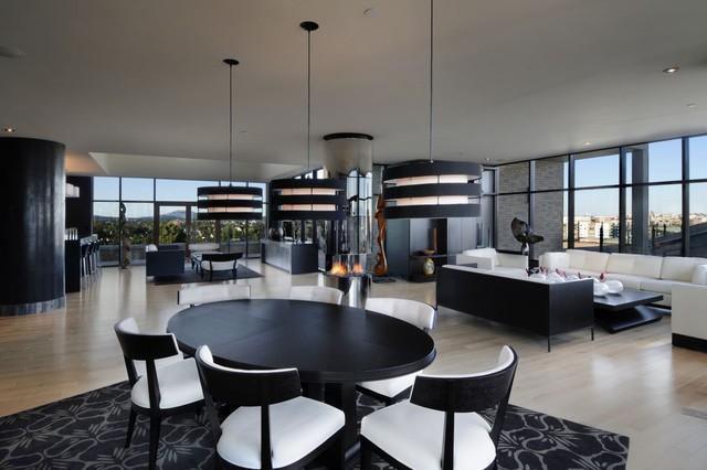 Smith Designs contemporary-living-room
