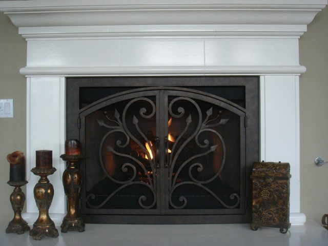 AMS Fireplace Doors Remodel Ideas - Traditional - Living Room - san diego - by AMS Fireplace, Inc.