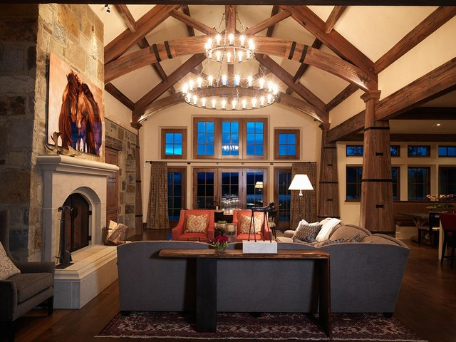 Snake River Sofa Table Contemporary Living Room