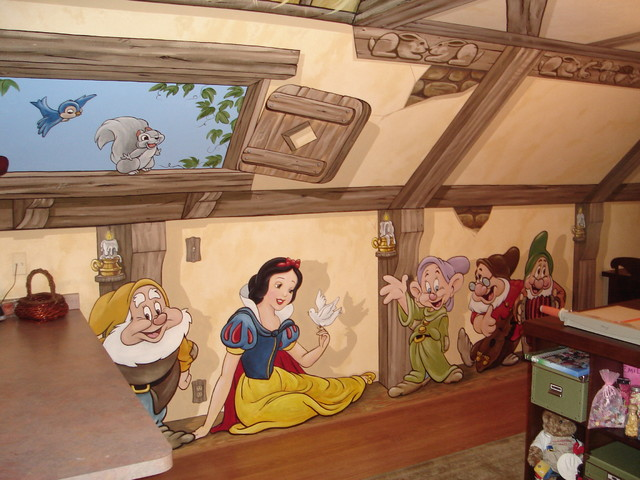Superb Snow White And The Seven Dwarfs Cottage Mural By Tom Taylor Of Mural Art  LLC Rustic Part 32