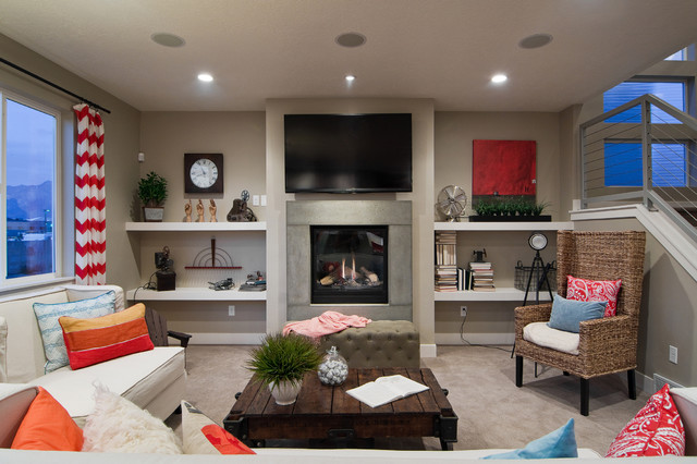 Snowm Plan Independence At The Point Bluffdale Contemporary Living Room