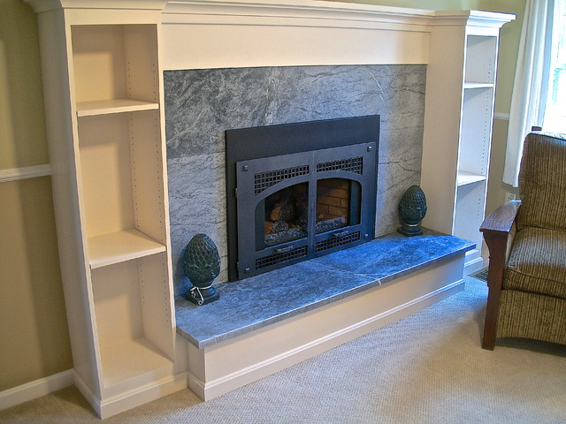 Soapstone Mantle And Fireplace