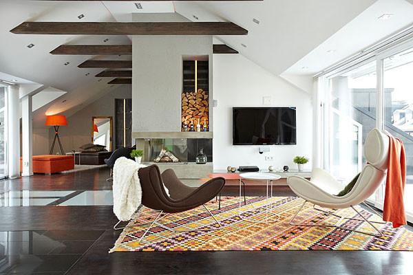 Södermalm Island Loft modern-living-room