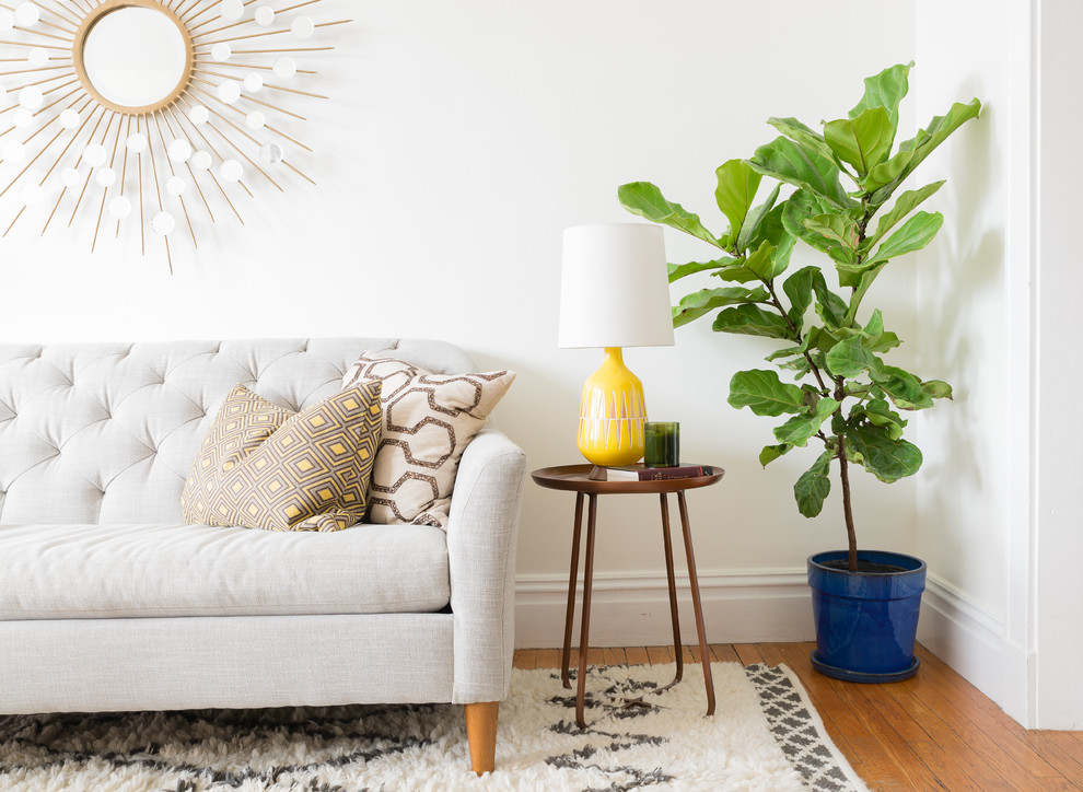 Living room - eclectic living room idea in Boston
