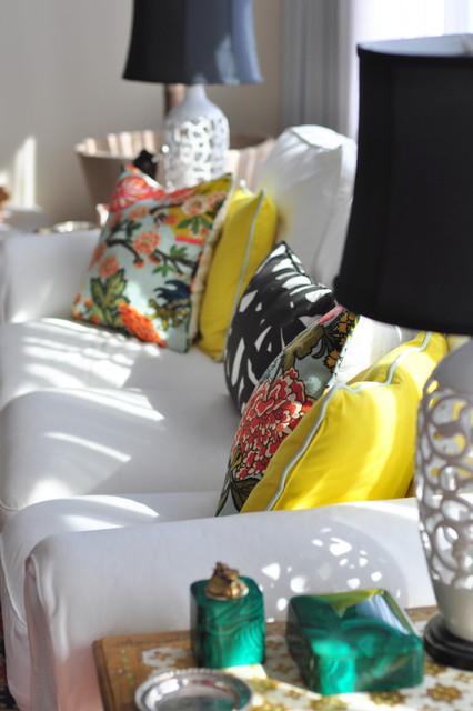 Sofa vignette eclectic-living-room