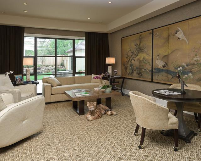 Soft Contemporary Contemporary Living Room