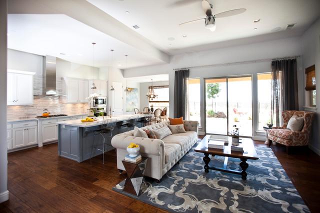 Soft Gray Getaway Rustic Living Room