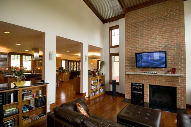 Soft-Modern Green Home modern-living-room