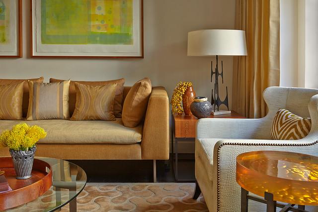 Soft modern manhattan residence contemporary living for Soft modern interior design