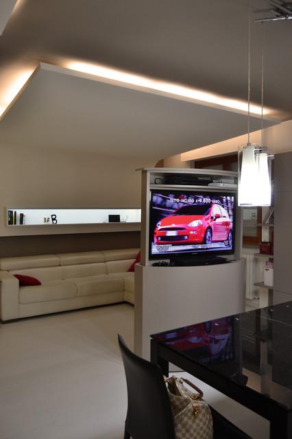 Illuminazione soggiorno controsoffitto idee per il - Illuminazione soggiorno moderno ...