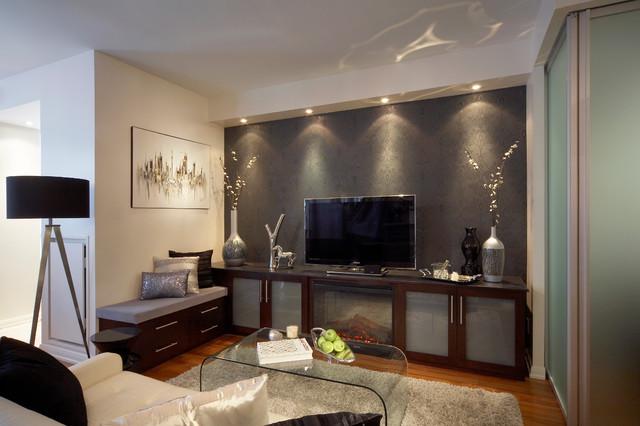 Soho Condo, Toronto contemporary-living-room