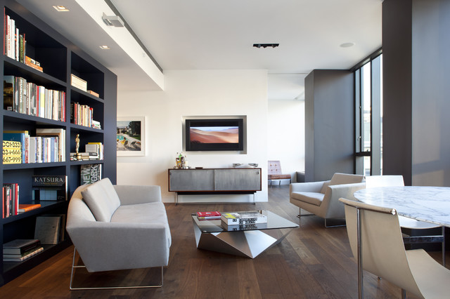 Soho condominium modern living room other metro by for Living room designs for condo units