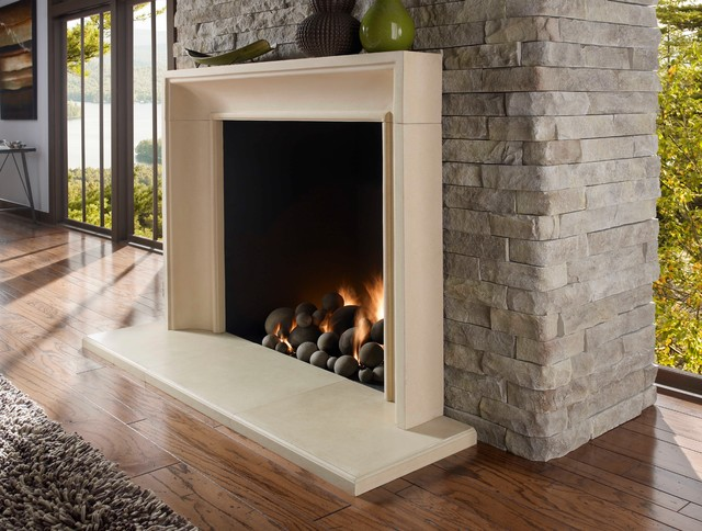 Soho Fireplace Surround Contemporary Indoor Fireplaces