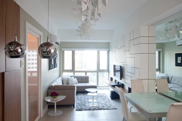 Sohu Designs One Bedroom Condo Unit At Forbeswood Parklane Modern Wohnbereich Sonstige Von Sohu Designs Houzz