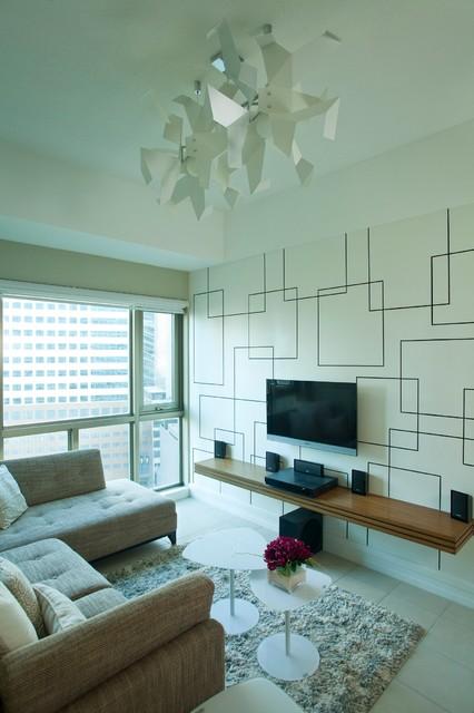 SOHU DESIGNS: One Bedroom Condo Unit at Forbeswood Parklane contemporary-living-room
