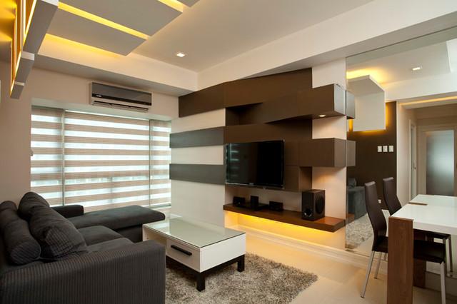two bedroom condo. SOHU DESIGNS  Two Bedroom Condo Unit at Forbeswood Parklane contemporary living room