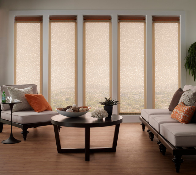 Solar Shades Contemporary Living Room Other By The