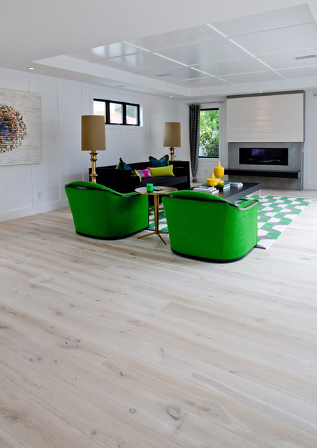Solid French Wire Brushed White Oak Contemporary