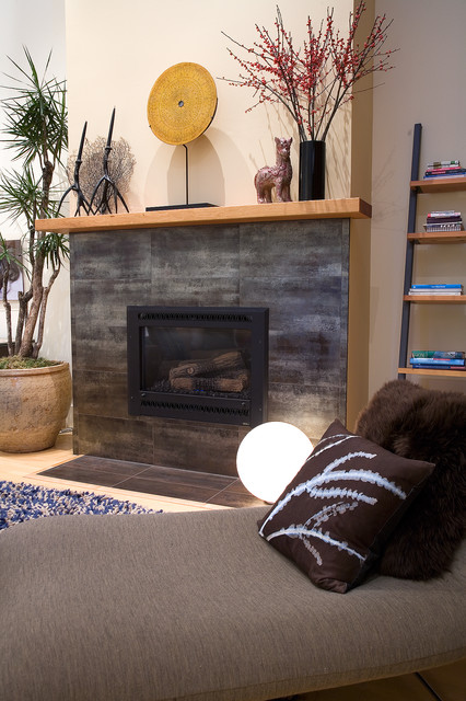 SOMA Loft- Fireplace by Kimball Starr Interior Design ...