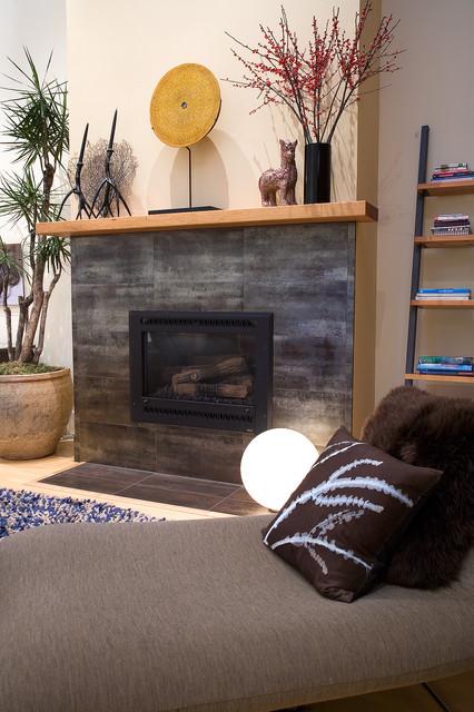 SOMA Loft- Fireplace by Kimball Starr Interior Design modern-living-room