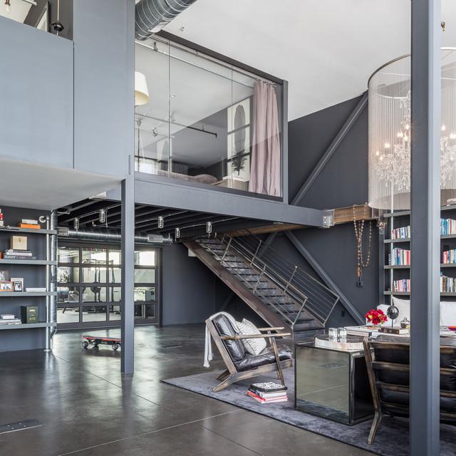Soma Loft Industrial Living Room San Francisco By