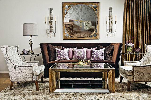Something Amethyst Evening Eclectic Living Room By High Fashion Home