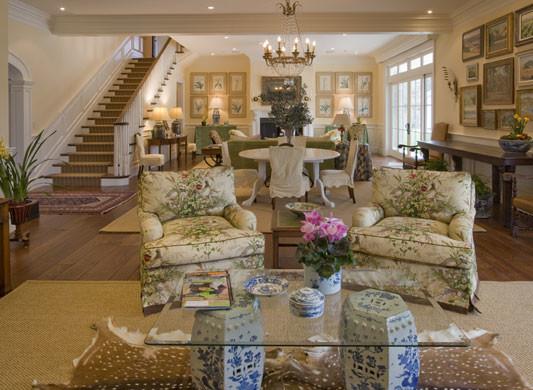 Sonoma Farmhouse traditional-living-room