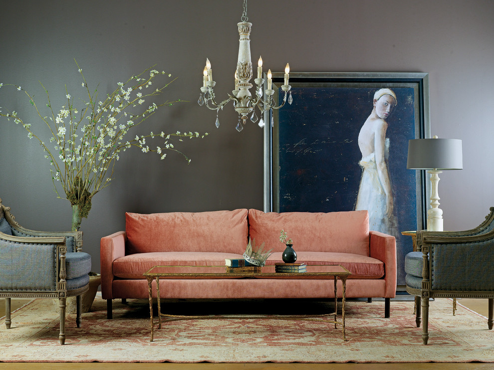 Living room - eclectic living room idea in Houston