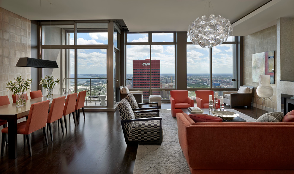 Sophisticated Chicago Loop - Contemporary - Living Room ...