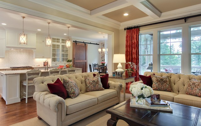 Sophisticated Farmhouse Traditional Living Room Raleigh by Southern S