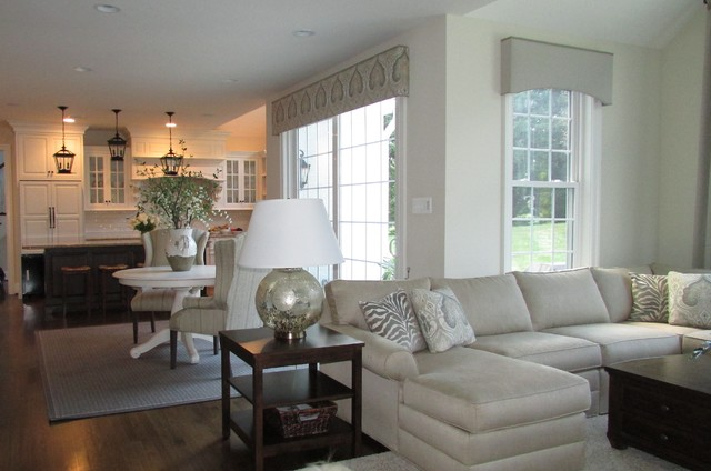 Sophisticated, transitonal home design - Transitional - Family Room - other metro - by Diane ...