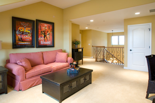"""Sopris Homes - """"Carbondale"""" model traditional-living-room"""