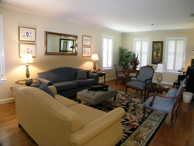 Staging Furniture For Sale >> Sorority House - Traditional - Living Room - birmingham - by G&G Interior Design