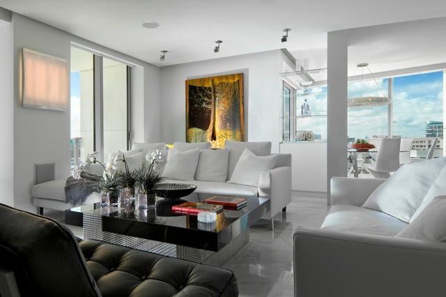South beach residence modern living room miami by for Modern beach house living room