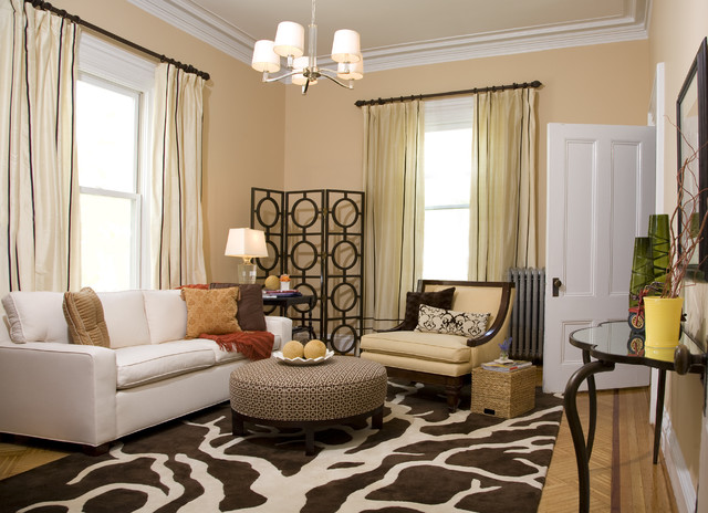 Transitional Living Room by Jace Interiors & CreateGirl Blog